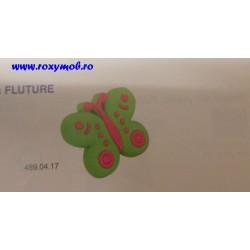 BUTON SOFT PLASTIC - FLUTURE - VERDE 43X28X25MM 489.04.17